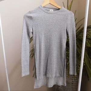 Ribbed Long Shirt and Long Sleeves